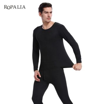2017 Winter Thermal Underwear Sets Hot Dry Technology Elastic Men Thermo Underwears Suits Warm Long Johns