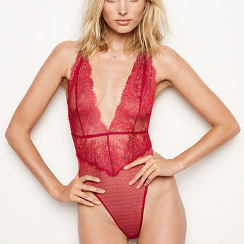 Chantilly Lace Plunge Teddy - Very Sexy - Victoria's Secret
