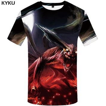 KYKU Naruto Tshirt Men Monster T Shirt Fire 3d Print T-shirt Japan Style Anime Clothes 2018 New Summer Mens Clothing Hipster Top
