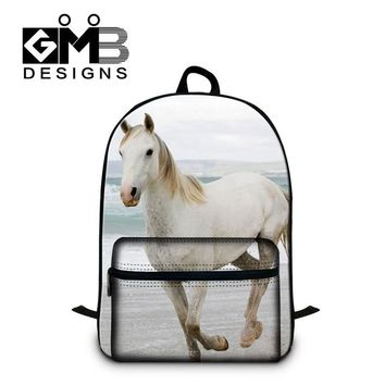Cool Backpack school 2016 cute animal backpacks for teen girls with laptop computer compartment,boys 3D horse school bookbags cool bagpack schoolbags AT_52_3