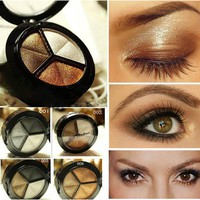 Eye Shadow 3 Colors Makeup Naked Eyehsadow Palette 8 Style Smoky Cosmetic Set Professional Natural Matte Make Up Glitter