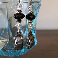 VW Volkswagen Pewter Beetle Bug Dangle Earrings Set Pair
