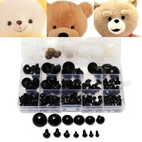 154Pcs/Case Black Plastic Safety Eyes For Teddy Bear Puppet Plush Doll Accessories Scrapbooking Crafts Tool 6-24mm