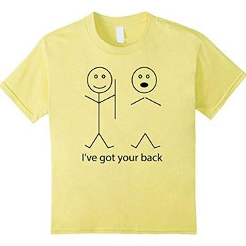 Funny T Shirt Stick Figures I've Got Your Back Unisex Shirt