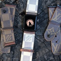 Leather & Vodka Apple Watch Bands
