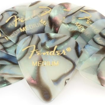 Fender 351 Premium Guitar Picks - Medium Abalone - 12-Pack
