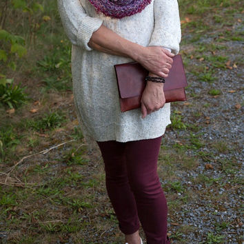 Tweed Infinity Scarf Valentine's Day Gift For Her Women Red Purple Eternity Cowl Fashion Scarves  Spring Scarves Wrap Scarf