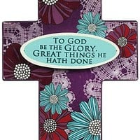 To God Be The Glory Tabletop Cross | Mardel