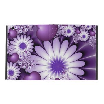 Falling in Love Abstract Flowers & Hearts Fractal iPad Cases