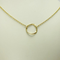 Infinity Circle (Small) Gold Necklace