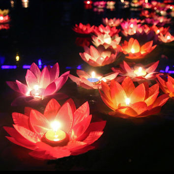 10Pcs Romantic Lotus Lamps,.