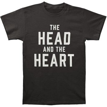 Head And The Heart Men's  Logo Tee Slim Fit T-shirt Black Rockabilia