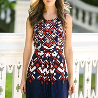 Geometric Gem Day Dress