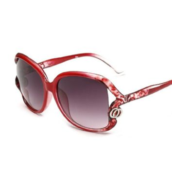 Vintage Women Designer Sunglasses Points Eyewear