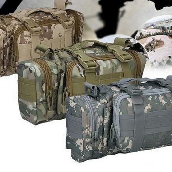 Small Outdoor Military Rucksacks Camouflag Waist Camera Bag Camping Bag