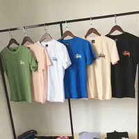 STUSSY print couple T-Shirt Top Tee (6 color) H-A-XYCL