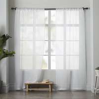 Sheer Linen Curtain - White