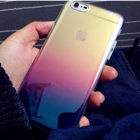 Purple Laser Gradient Transparent Iphone 6s 6 plus Cases