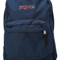 Jansport Backpack Superbreak Navy Blue for School Work or Play