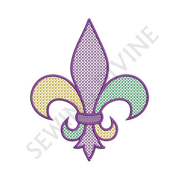FLEUR De Lis CROSS STITCH Machine Embroidery Design Download 4x4 5x7 6x10 Hoop Sizes