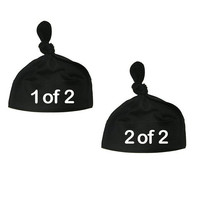 Baby Newborn TWINS Knotted Hat SET of 2 Infant Apparel Great Gift