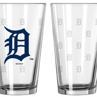 Boelter Brands Detroit Tigers Satin Etch Pint Glass Set