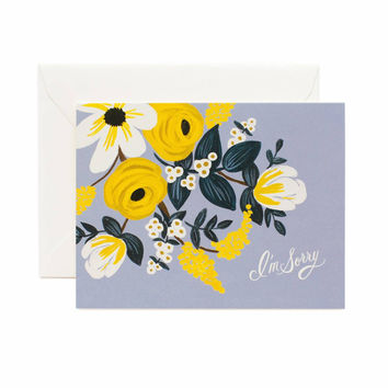 RIFLE PAPER VIOLET FLORAL I'M SORRY CARD