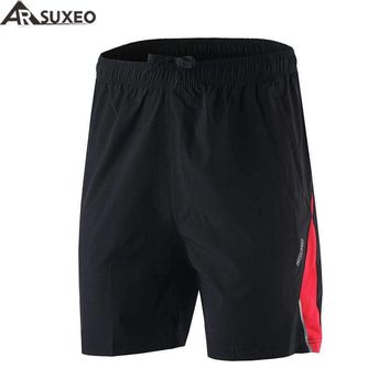 ARSUXEO 2017 Mens Sports Running Shorts Training Soccer Tennis Workout GYM Shorts Quick Dry Pockets B162