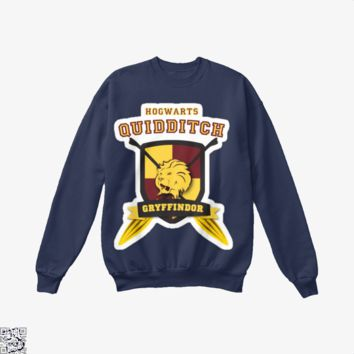 Gryffindor Quidditch, Harry Potter Crew Neck Sweatshirt