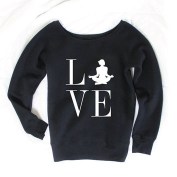 Love Yoga - Yoga Sweater - Yoga Shirt - Yoga Apparel - Yoga Clothes - Yoga Sweater - Sweatshirt - Gift for Yogi - Namaste - Yoga Gift SW1