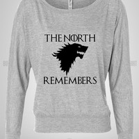 Bull-shirt.com The North Remembers Game Of the Thrones Off Shoulder Top Bull-shirt.com
