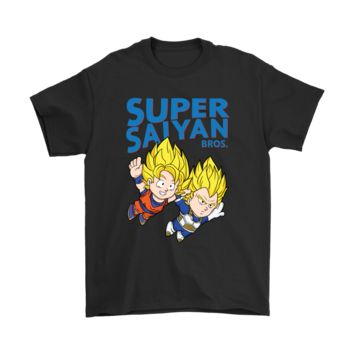 PEAPV4S Super Saiyan Bros. Super Mario Bros. And Dragon Ball Mashup Shirts
