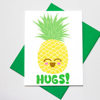 Cute Pineapple Kawaii Valentine Love Card