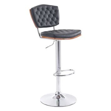Tiger Bar Chair Black Chromed Steel