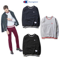 Winter Round-neck Pullover Simple Design Tops Hoodies [9070631299]