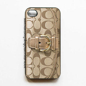 iPhone 4 4s Coach Inspired Hard iPhone Case Comes in Black or White