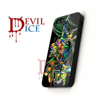 Zelda Character Compilation - iPhone 4/4s/5 Case - Samsung Galaxy S3/S4 Case - Black or White