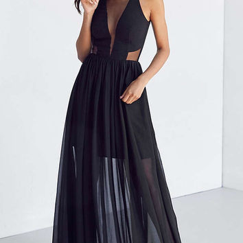 Dress the Population Claire Mesh Maxi Dress | Urban Outfitters