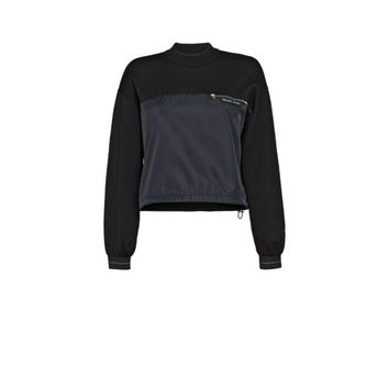 Wool and nylon gabardine sweater