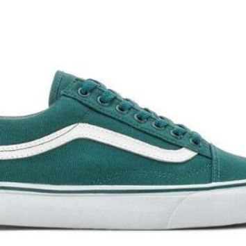 VANS Old Skool Low Deep Teal White Men Women Sneakers VN0001R1GF0 Sz4-11