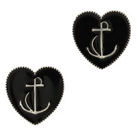 LOVEsick Anchor Heart Earrings