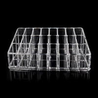 Happy home Women's Fashion Beauty Designer Cosmetic Box Clear Acrylic 24 Lipstick Tray Cosmetic Organizer Stand Display Holder