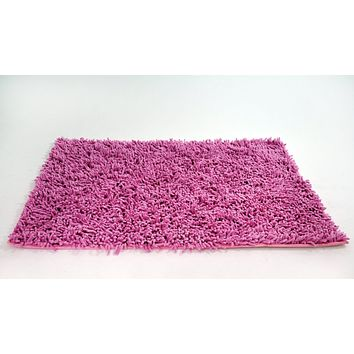 Tache 100% Cotton Chenille Hot Pink Shag Rug