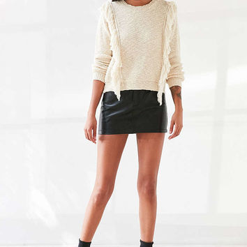 Ecote Fringe Trim Pullover Sweater - Urban Outfitters
