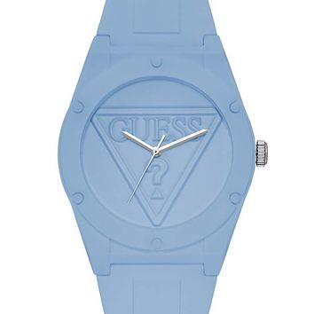 Iconic Light Sky Blue Sport Watch at Guess