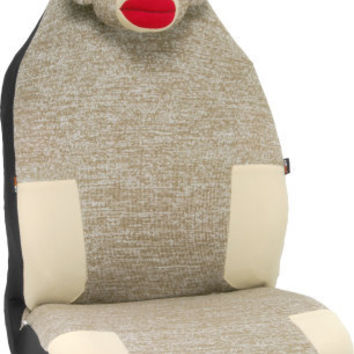 Sock Monkey Car Seat Cover