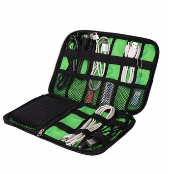 Data Line Finishing Package Waterproof Travel Portable Cable Organizer Bag
