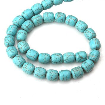 39pcs/string 10*10mm Round Turquoises Beads Natural Stone Fashion Jewelry Loose Beads For DIY Bracelet Making