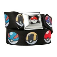 Pokemon Poke Ball Print Seat Belt Belt