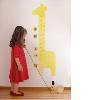 Giraffe Growth Chart Fabric Wall Decal by Petit Collage, Growth Charts, Art for Children